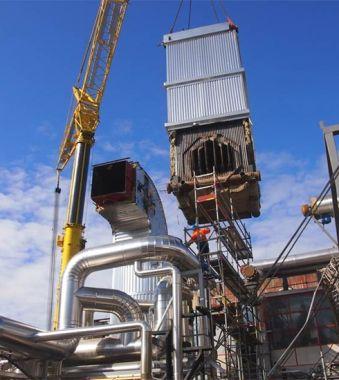 Prace demontażowe oraz relokacja kotła 30MW